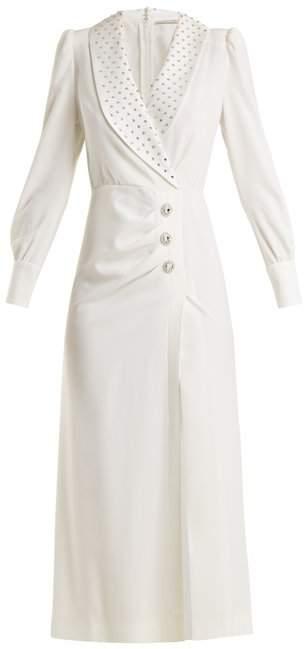 ALESSANDRA RICH Hollywood Sable crystal-embellished dress