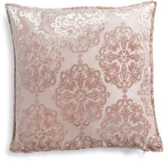 20x20 Velvet Sandi Damask Pillow