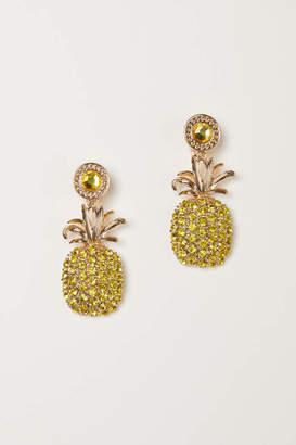 H&M Rhinestone Clip Earrings