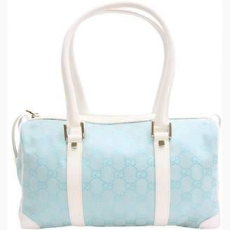 Gucci Boston Blue Leather Handbags