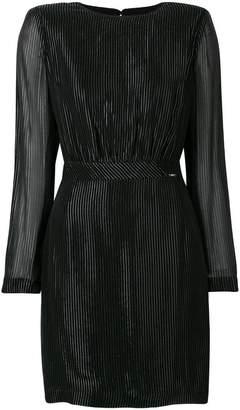 Liu Jo metallic stripe mini dress