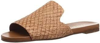 Kaanas Women's Leticia Snake Skin Leather Pool Slide Flat Sandal