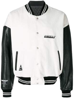 Unravel Project two-tone bomber jacket