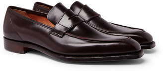 George Cleverley George Horween Shell Cordovan Leather Penny Loafers