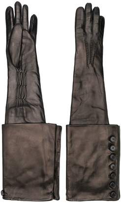 Ann Demeulemeester long button detail gloves