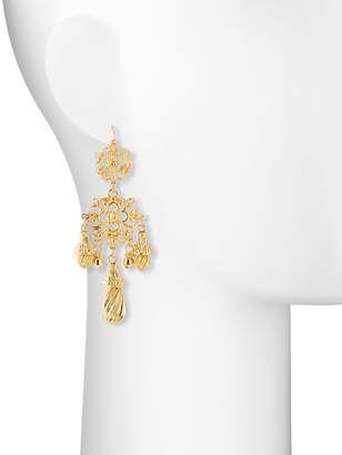Jose & Maria Barrera Filigree Teardrop Earrings
