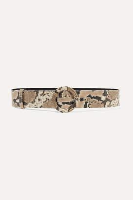 ATTICO Snake-effect Leather Belt - Snake print