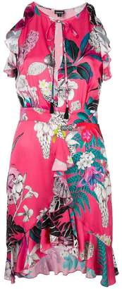Just Cavalli ruffle trim floral dress