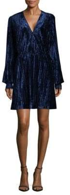 Laundry by Shelli Segal Pleated Bell Sleeve Dress