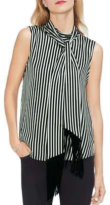Vince Camuto Sleeveless Striped Tie-Neck Top