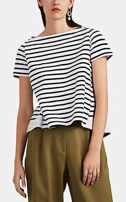 Sacai Women's Striped Cotton Jersey T-Shirt