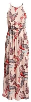 --- Print Maxi Dress