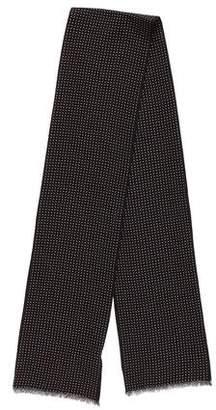 Tom Ford Wool Polka Dot Scarf w/ Tags