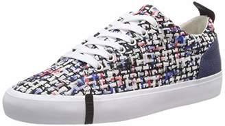 499e460a9eb3 Armani Exchange Women s Denim Multicolor Lace Up Sneaker Low-Top