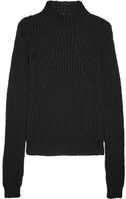 Rick Owens - Ribbed Cotton Sweater - Black $660 thestylecure.com