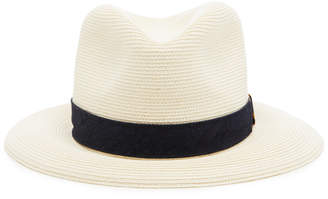 Albertus Swanepoel Exclusive Donn Ribbon-Trimmed Straw Fedora