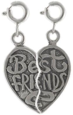 Sterling Best Friends Charm Set