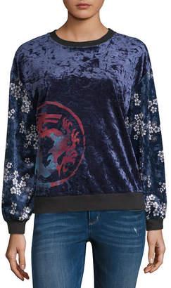 DISNEY PRINCESS Disney Princess Design Challenge Long Sleeve Sweatshirt-Juniors