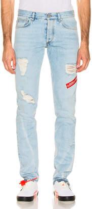 Heron Preston Hammer Holder Work Jeans in Light Blue   FWRD