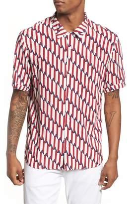 Eleven Paris ELEVENPARIS Shopy Print Woven Shirt