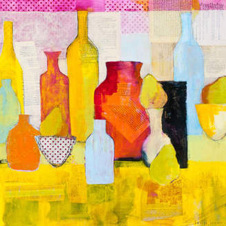 GreenBox Art 'Bottles and Pears' by Laurie Breen Painting Print on Wrapped Canvas
