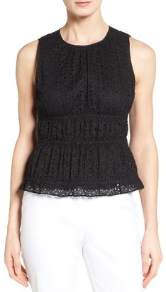 Women's Classiques Entier Smocked Eyelet Shell $199 thestylecure.com