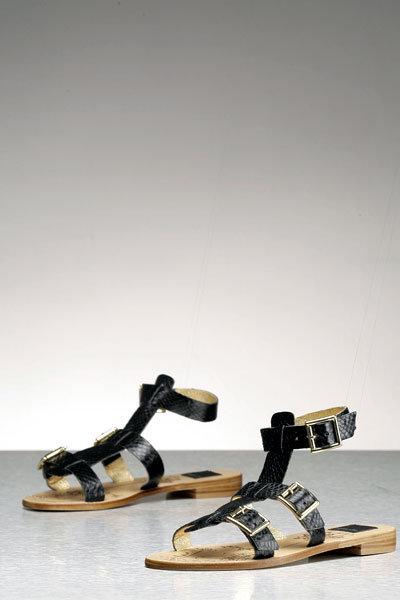 Dolce Vita Bermuda Gladiator Sandal w/Buckles in Black-FINAL SALE