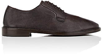 Barneys New York Men's Washed Leather Bluchers - Brown