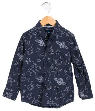 Andy & Evan Boys' Printed Button-Up Shirt