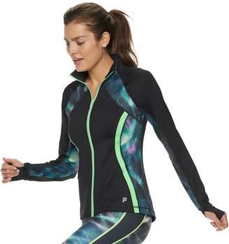 Fila Sport Women's SPORT Print Thumb Hole Zip-Up Jacket