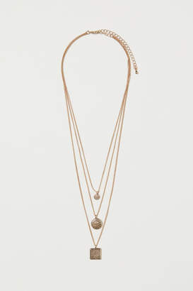 H&M Triple-strand Necklace - Gold