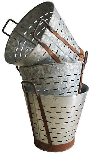Zinc Harvest Baskets