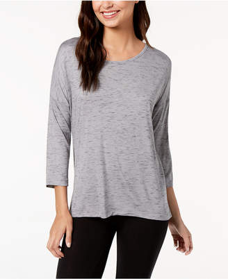 Ideology Drop-Shoulder Pleated-Back Long-Sleeve T-Shirt