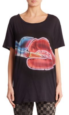 Marc Jacobs Marc Jacobs Smoking Lips Skater Tee