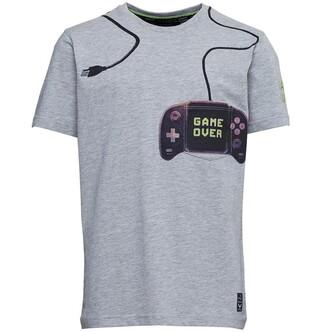 Brave Soul Junior Boys Console T-Shirt Light Grey Marl