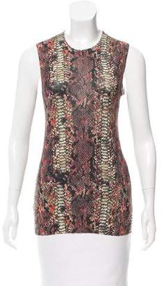 Minnie Rose Patterned Sleeveless Knit Top