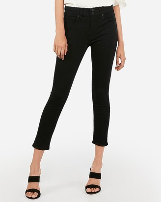 Express Mid Rise Black Cropped Jean Leggings