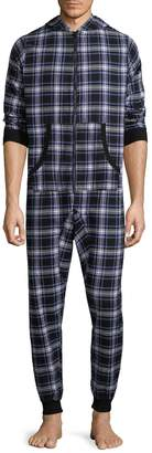 Bottoms Out Men's Plaid Cotton One Piece