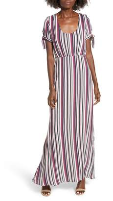 Rowa Row A Tie Sleeve Maxi Dress