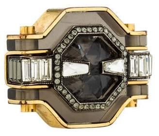 Lanvin Crystal & Resin Cocktail Ring