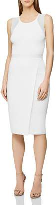 Reiss Leila Sheer-Inset Dress