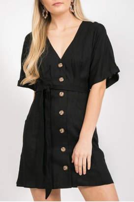 Loveriche Button front tie dress