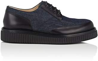 Paul Andrew Men's Ethan Denim & Leather Oxfords