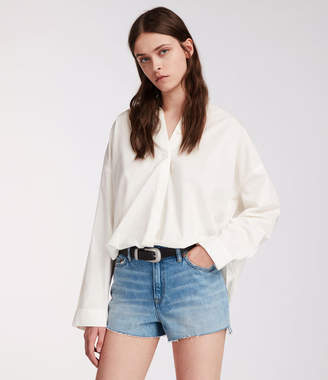 AllSaints Nyla High-Waisted Shorts