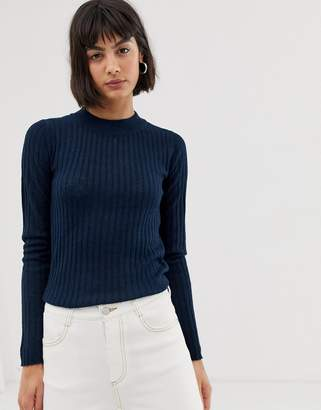 Selected long sleeve knit top