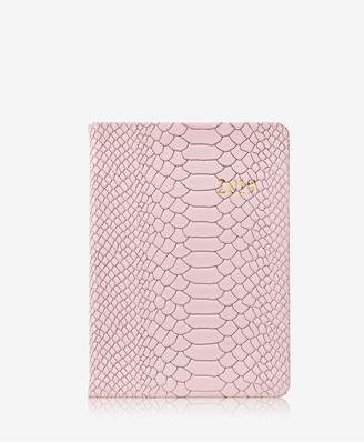 GiGi New York 2019 Notebook In Petal Pink Embossed Python Leather