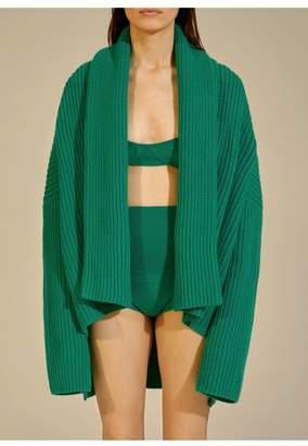 KHAITE The Aceline Cardigan In Kelly Green