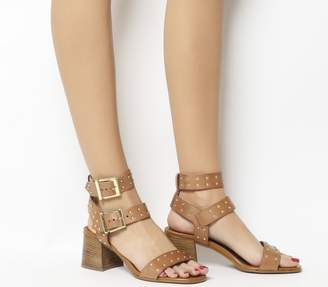 66cdd1ea07a Tan Leather Heeled Sandals - ShopStyle UK
