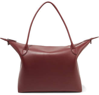 The Row Lux Leather Tote - Burgundy