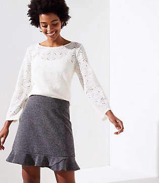 LOFT Tweed Flippy Skirt